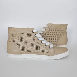Calvin Klein High Top Perforated Sneakers   7.5